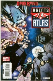Agents Of Atlas #1 Dynamic Forces Signed Jeff Parker DF COA Ltd 50 Dark Reign Marvel comic book